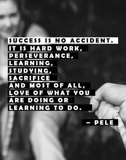 succes is no accident quote